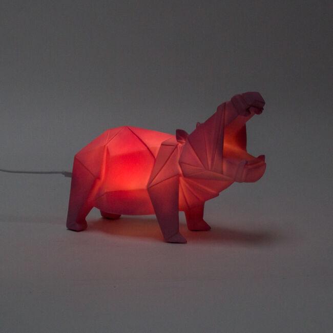 Origami víziló hangulatvilágítás