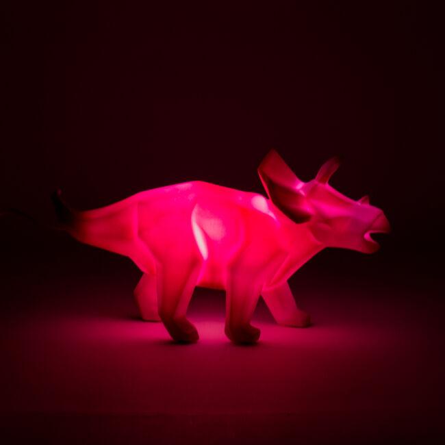 Origami Triceratops dinó hangulatvilágítás - 2 méretben Nagy