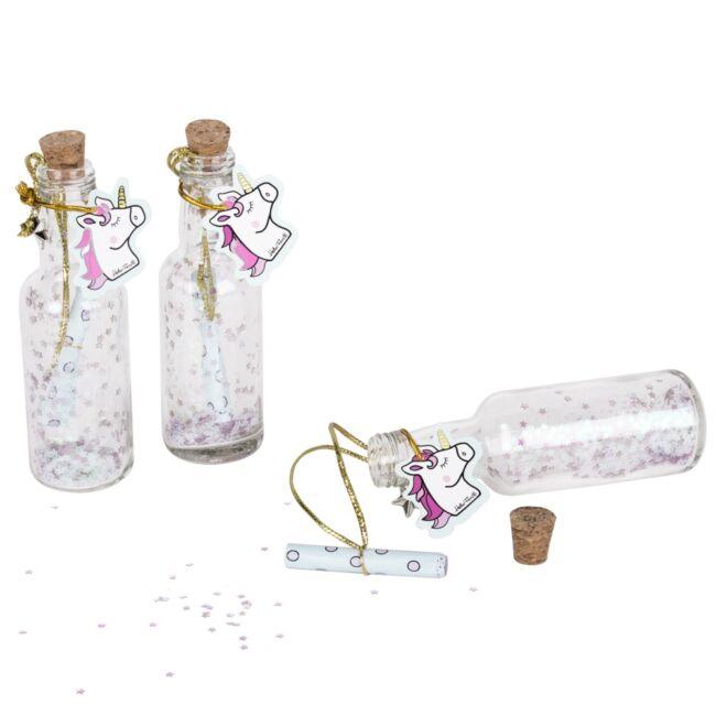 Unikornis mágikus üzenet a palackban