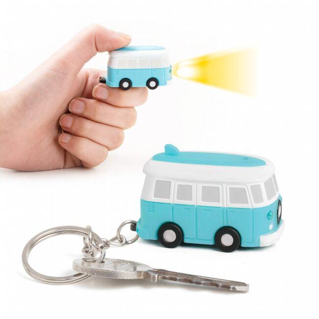 VW Retro kisbusz kulcstartó hanggal és fénnyel