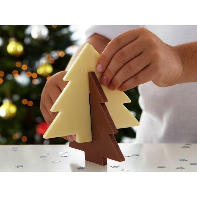 3D csoki fenyőfa szilikon forma