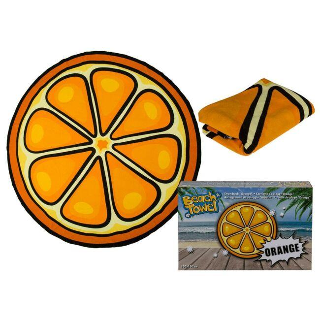 Narancs strandtörölköző