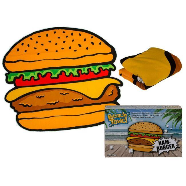 Hamburger strandtörölköző