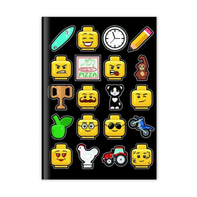 Lego jegyzetfüzet - fekete