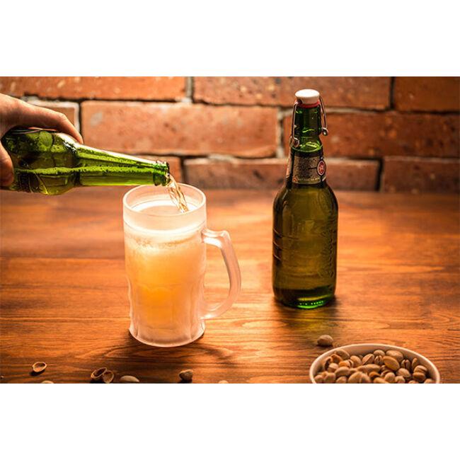 Fagyasztható söröskorsó L és XL méretben 0,65 l arany