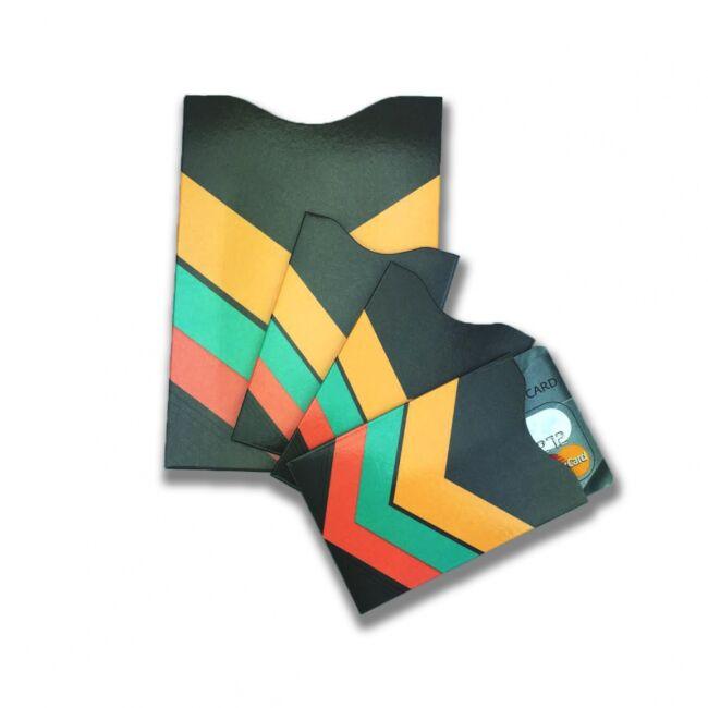 RFID adatlopás elleni tok szett (3 bankkártya- és 1 útlevél tok)