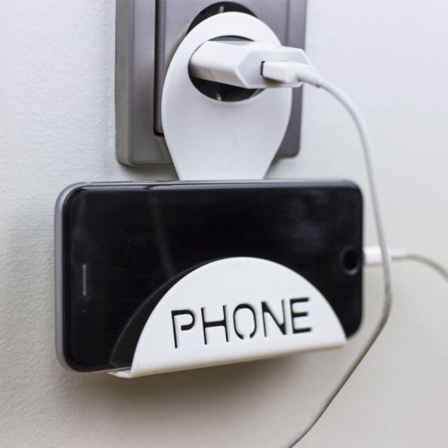 Telefontartó töltéshez Fehér