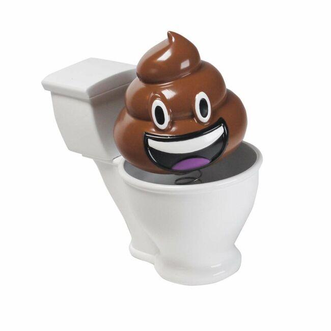 WC-n ülő bólogató kaki