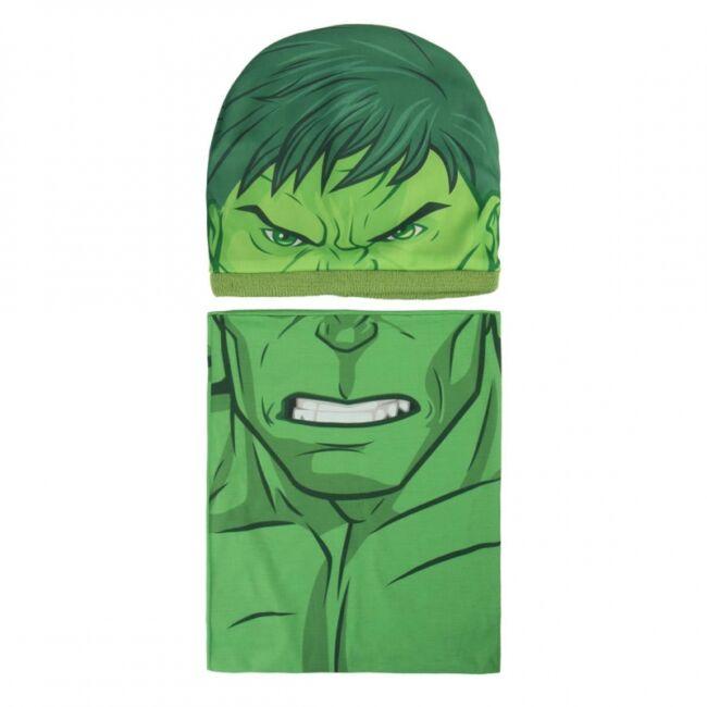 Bosszúállók - Hihetetlen Hulk sapka és sál szett