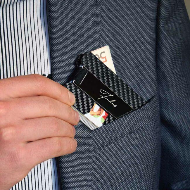 Fulus RFID bankkártyatartó - bankkártya adat védelemmel Fekete