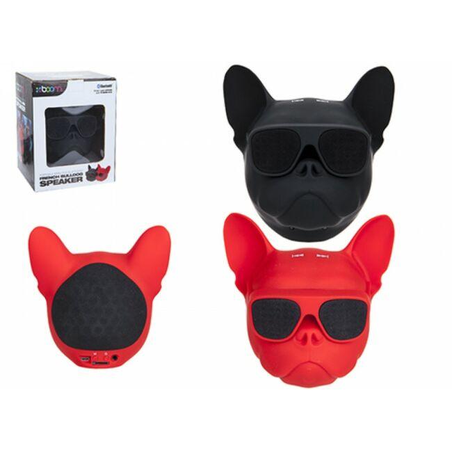 Francia bulldogos Bluetooth hangszóró Piros