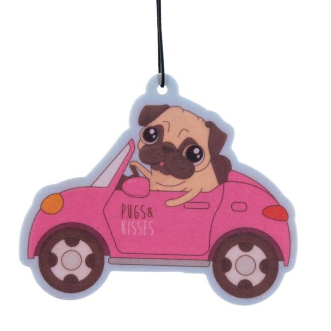 Pugs and Kisses - mopsz eper illatú autóillatosító