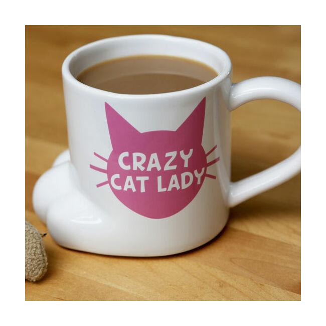 Crazy cat lady macska tappancs formájú bögre