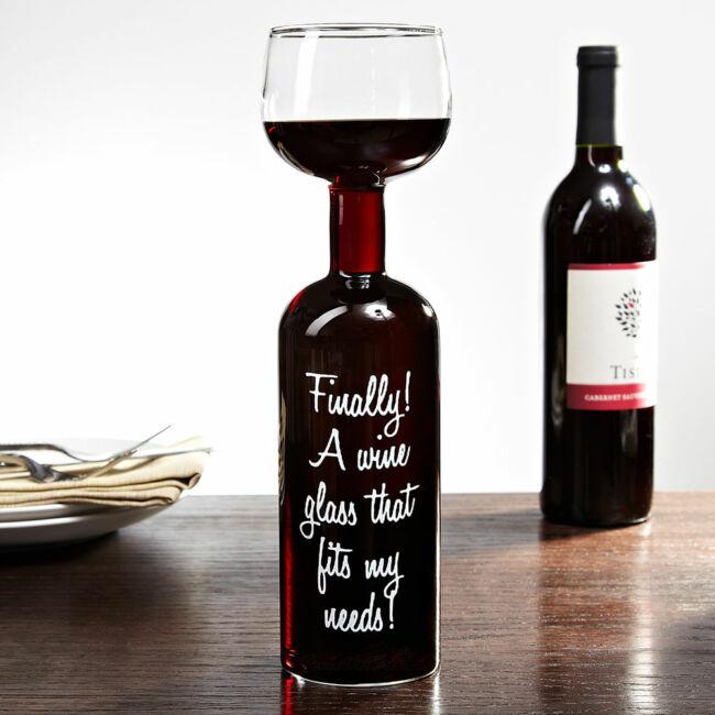 Végre egy borospohár ami megfelel az igényeimnek - óriás borosüveg-pohár 0,75 l
