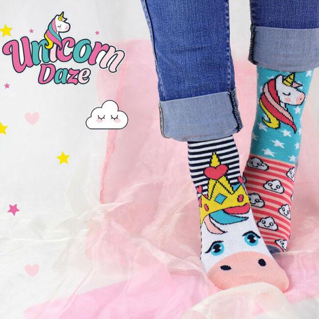Unikornis Daze zokni szett - 6 db különböző mintájú
