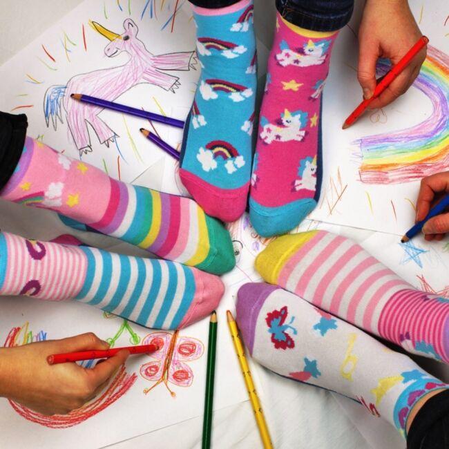 Fairytale Friends zokni szett - 6 db különböző mintájú zokni