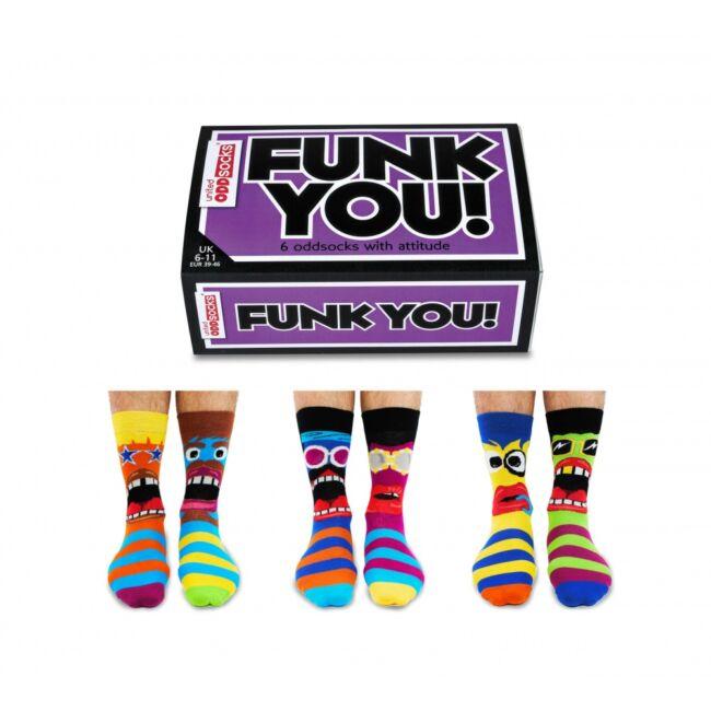Funk you zokni szett - 6 db különböző mintájú zokni