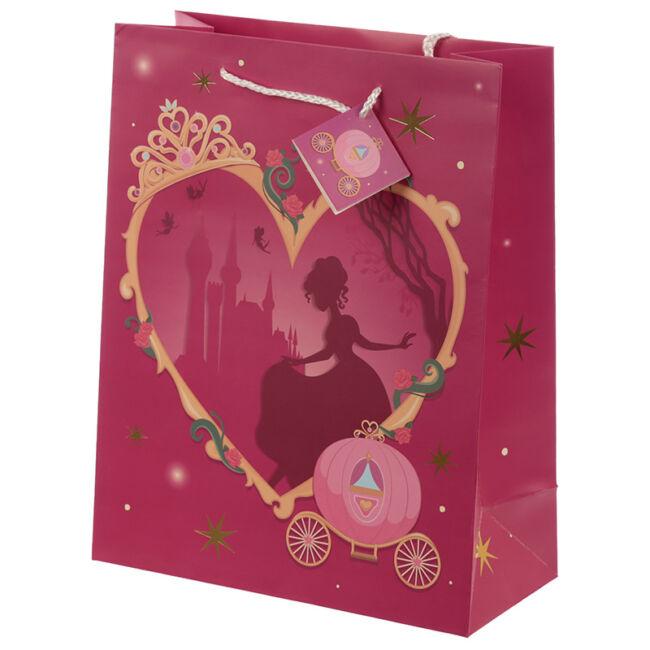 Hercegnős szülinapi ajándéktasak 3 méretben Nagy rózsaszín