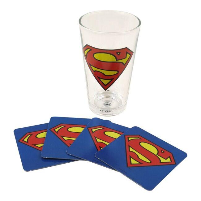 Superman pohár és alátét szett
