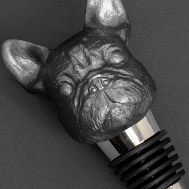 Iron & Glory - Bulldog borosüveg dugók Fekete