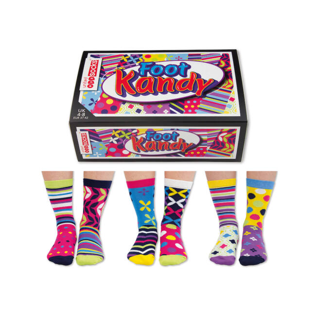 Foot Kandy  - 6 db különböző mintájú zokni