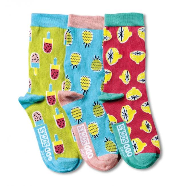 Gyümölcsök - 3 darabos zokni szett