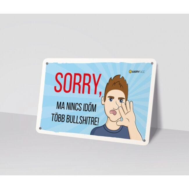 Emoji fémtábla - No bullshit