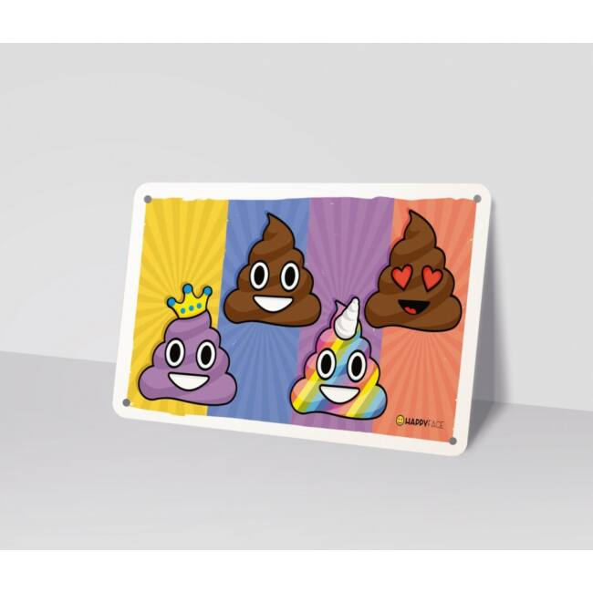 Emoji fémtábla - Kaki emoji