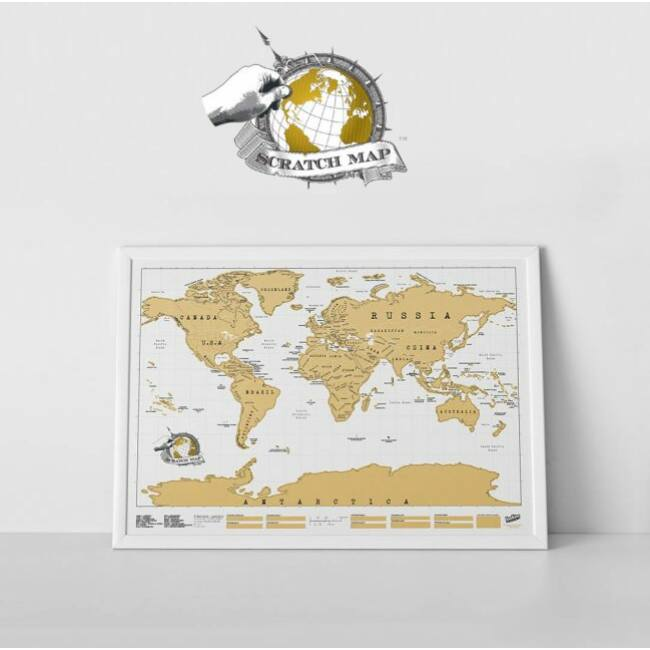 Scratch Map - kaparós térkép világutazóknak