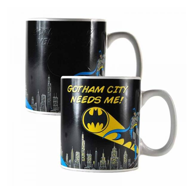 Batman bögre - hőre megjelenő batman jel