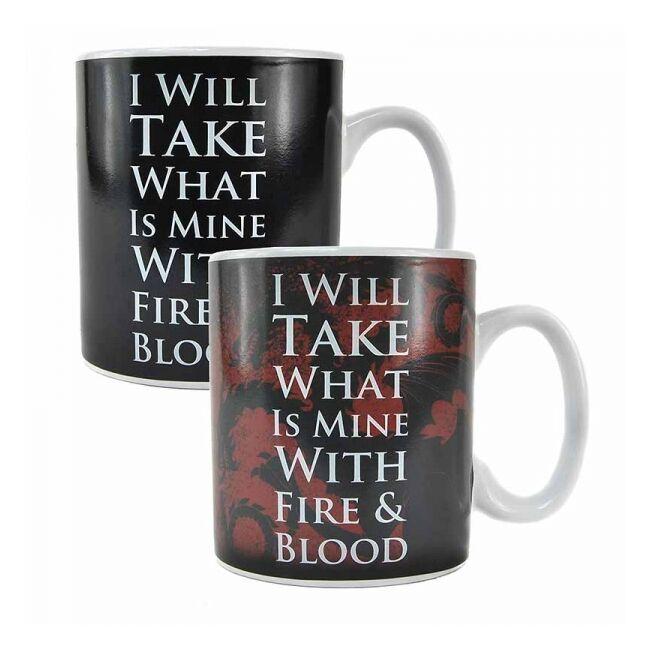 Trónok harca - Daenerys Targaryen hőre változó bögre