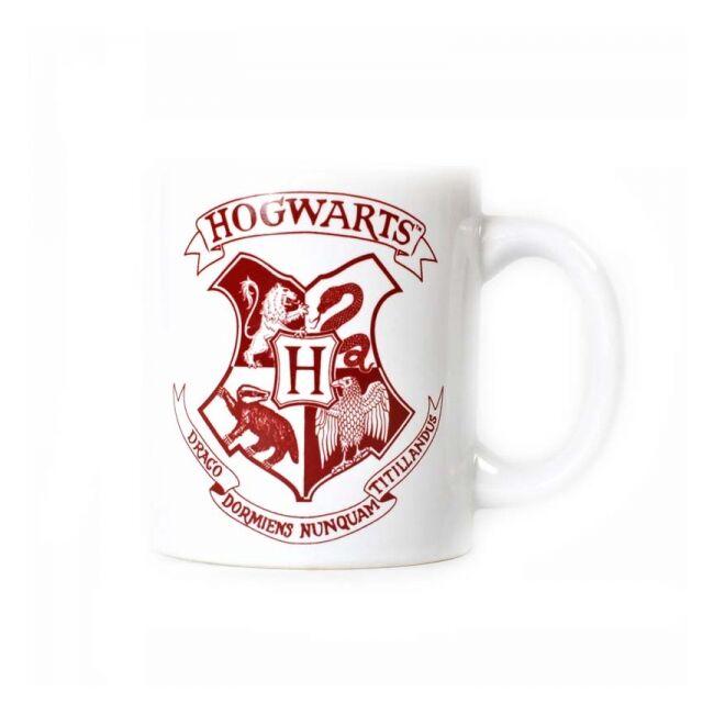 Harry Potter fehér bögre Hogwarts címerrel