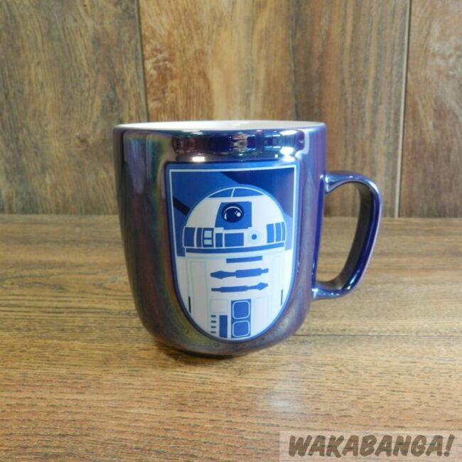 Star Wars fém hatású droid bögrék R2D2