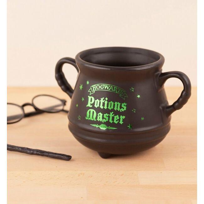 Harry Potter fekete varázs üst bögre Potions master (zöld)