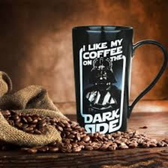 Star Wars Darth Vader Latte bögre - I like my coffee on the dark side