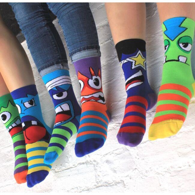 The Mashers zokni szett - 6 db különböző mintájú zokni