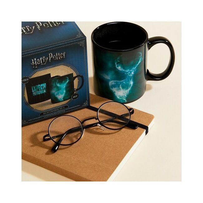 Harry Potter Patrónus hőre változó bögre Fekete/zöld