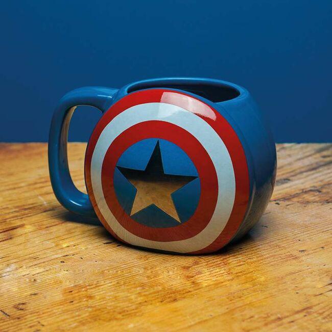 Amerika Kapitány pajzs formájú bögre