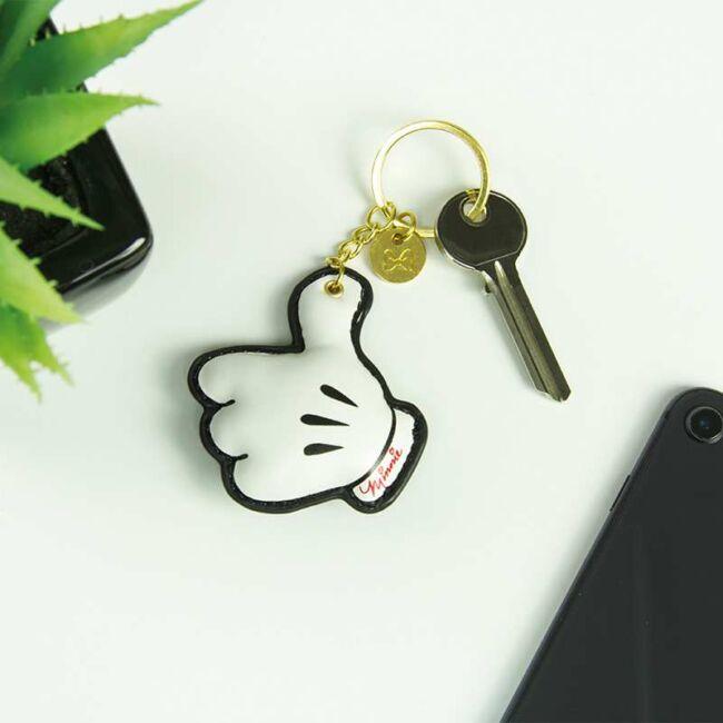 Minnie egér kesztyű kulcstartó