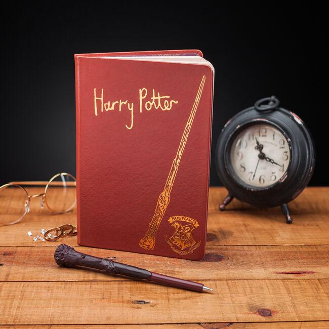 Harry Potter jegyzetfüzet és varázspálca formájú toll