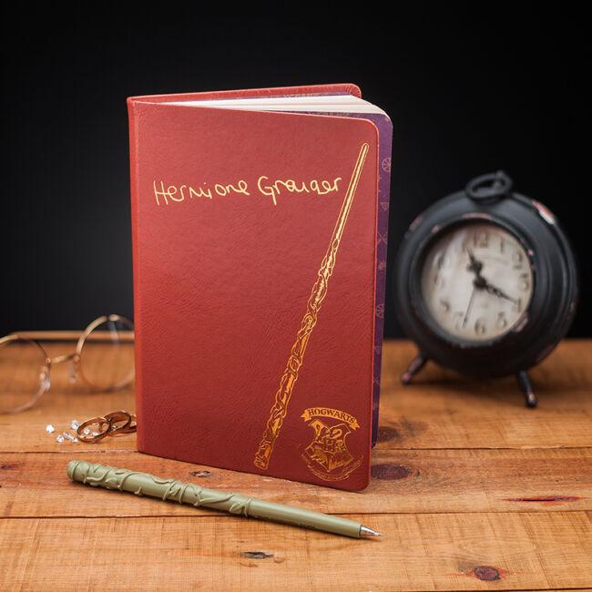 Harry Potter Hermione jegyzetfüzet és pálca formájú toll Jegyzet füzet és toll