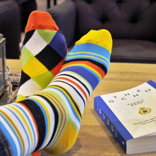 Sockology - 6 db különböző geometriai mintájú férfi zokni