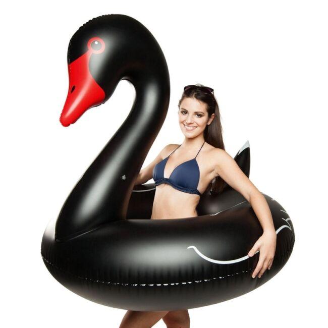 Óriás hattyú úszógumi Fekete