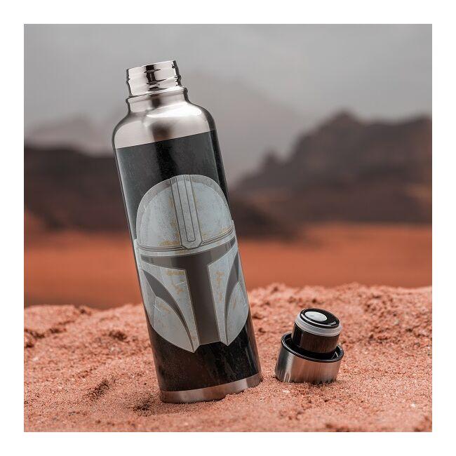 The Mandalorian - fejvadász fém vizes palack