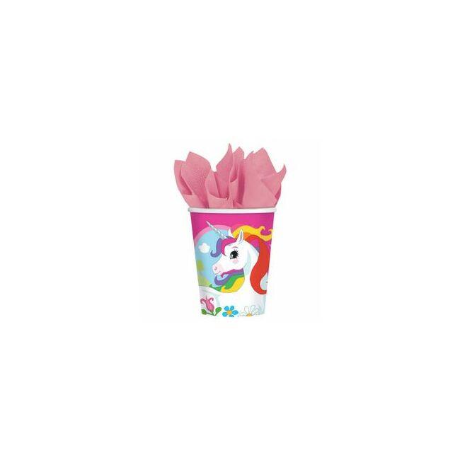 Unicorn Parti Pohár - 266 ml, 8 db-os Party kellék