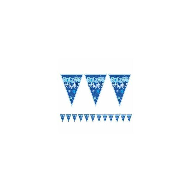 Boldog Szülinapot! Kék Fiús Zászlófüzér - 5 m Party kellék