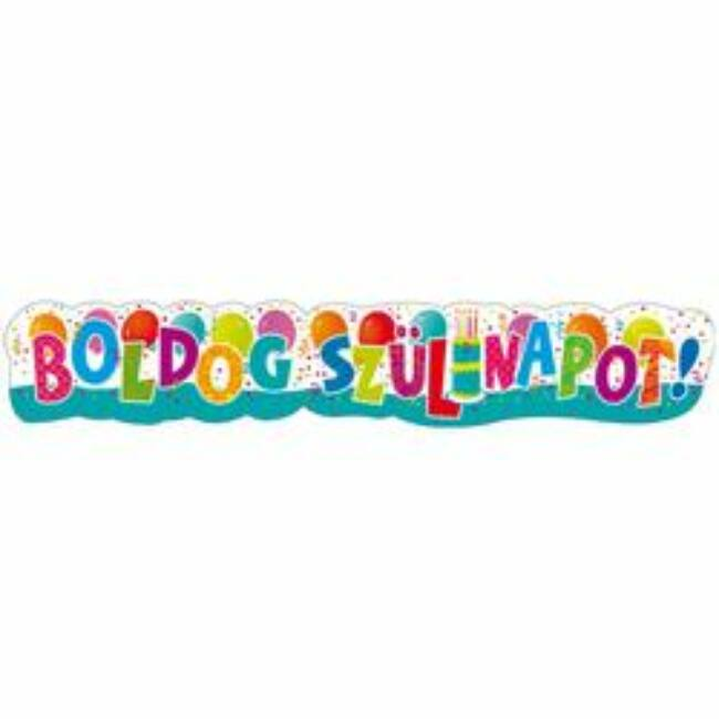 Boldog Szülinapot! Jamboree Banner - 148 cm x 27 cm Party kellék