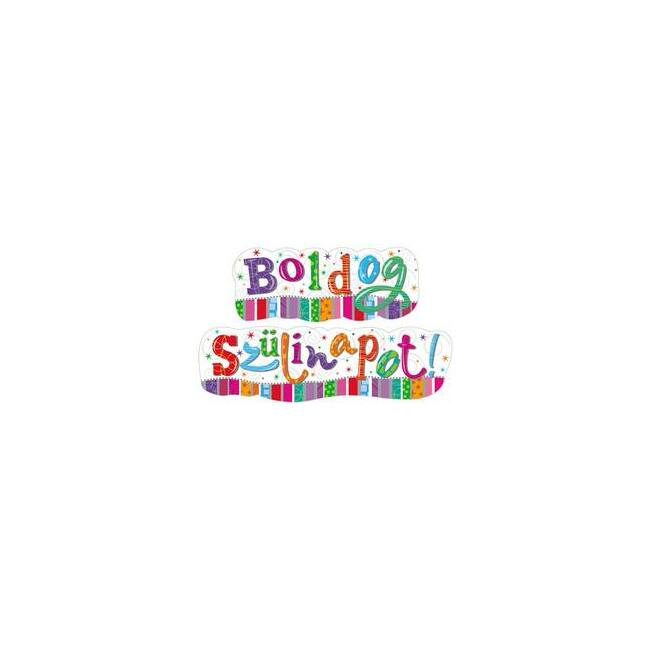 Boldog Szülinapot! - Feliratú Radiant Banner - 148 cm x 27 cm