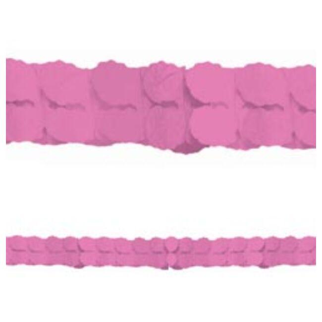 Rózsaszín Papír Girland - 3,6 m