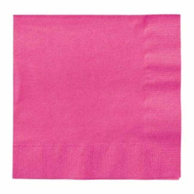 Rózsaszín Papír Party Szalvéta - 33 cm x 33 cm, 20 db-os